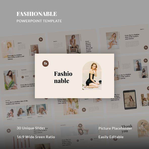Fashionable - Fashion PowerPoint Template