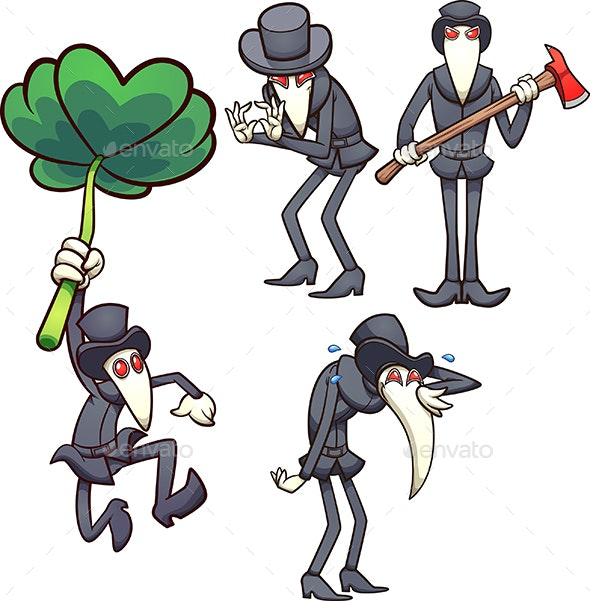 Plague Doctor - Characters Vectors
