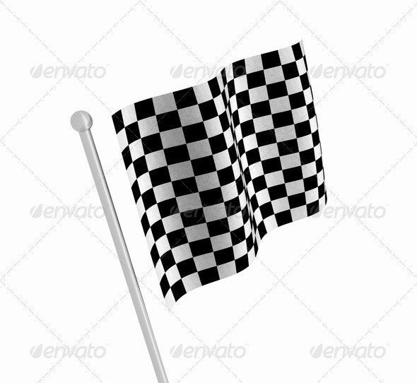 Checkered flag - Objects 3D Renders