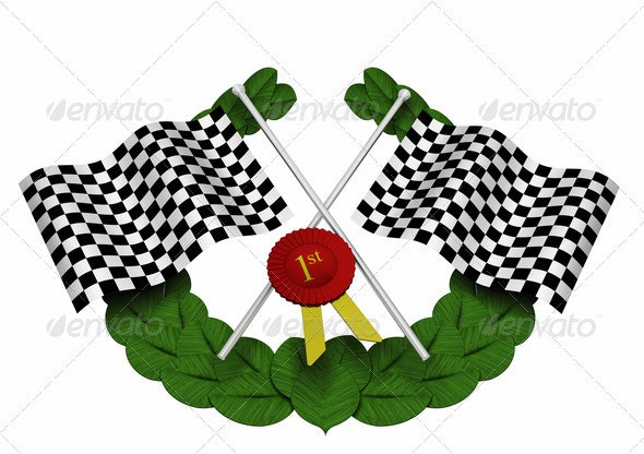 Checkered flags - Objects 3D Renders