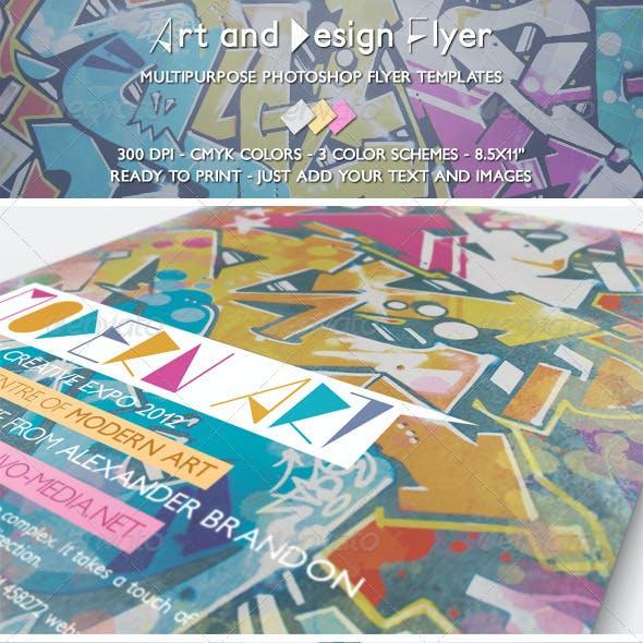 Art and Design Flyer
