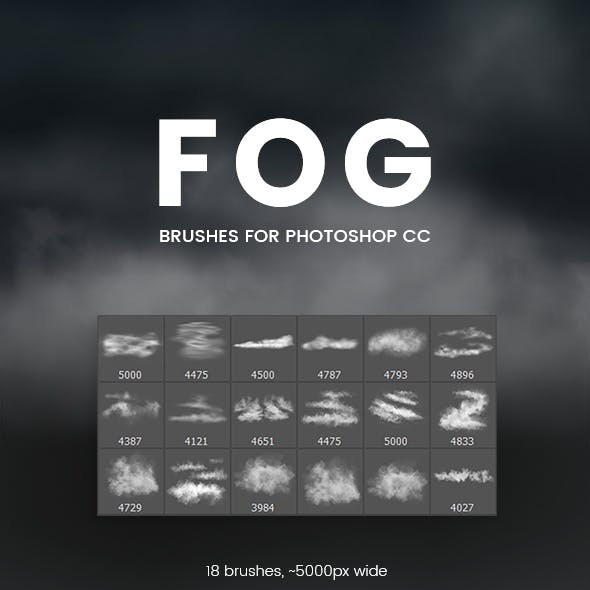 Fog Brushes for Photoshop CC