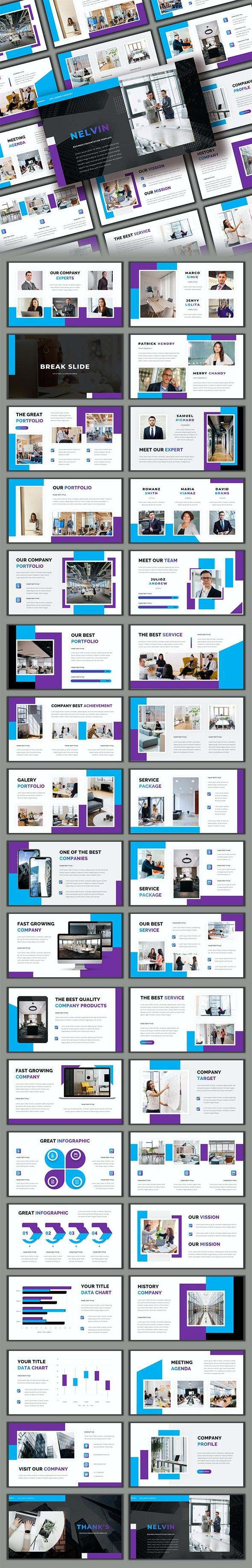 Nelvin - Business Google Slide Template - Google Slides Presentation Templates