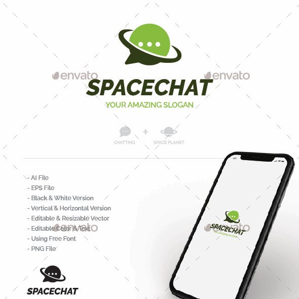 Space Chat Logo - Planet