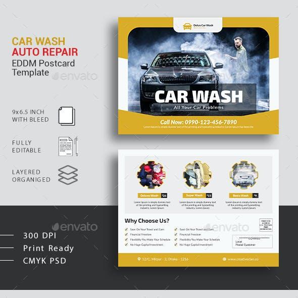 Car Wash Auto Repair EDDM Postcard