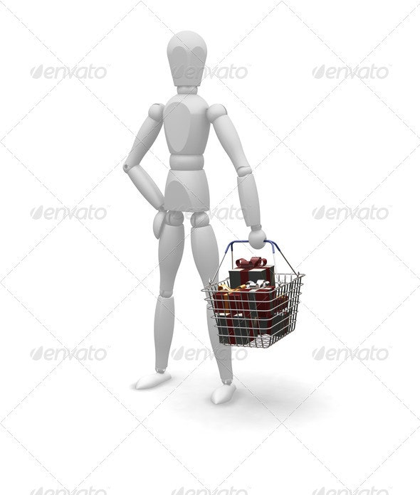 Christmas shopping - Characters 3D Renders