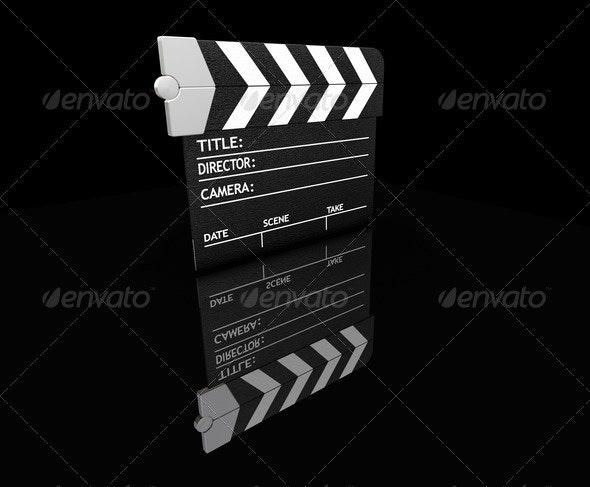 Clapper board - Objects 3D Renders