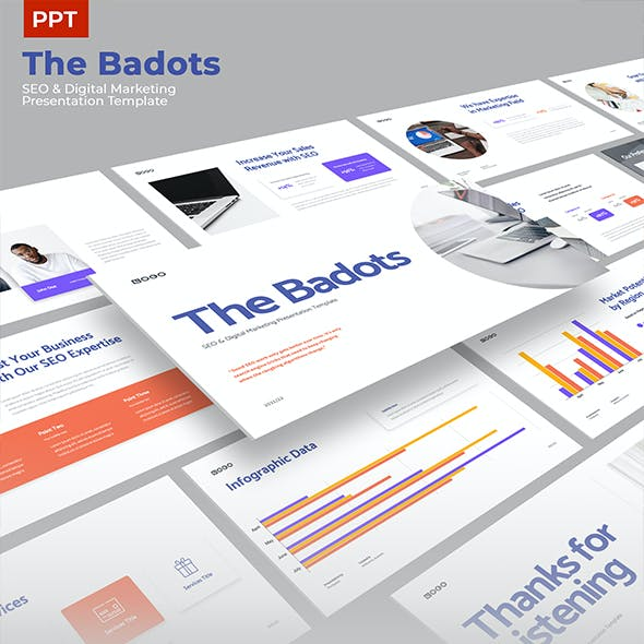 The Badots - SEO & Digital Marketing Presentation PPT Template