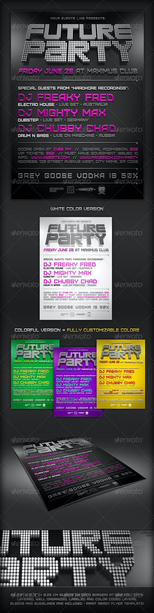 Minimal Future Flyer Template - Clubs & Parties Events