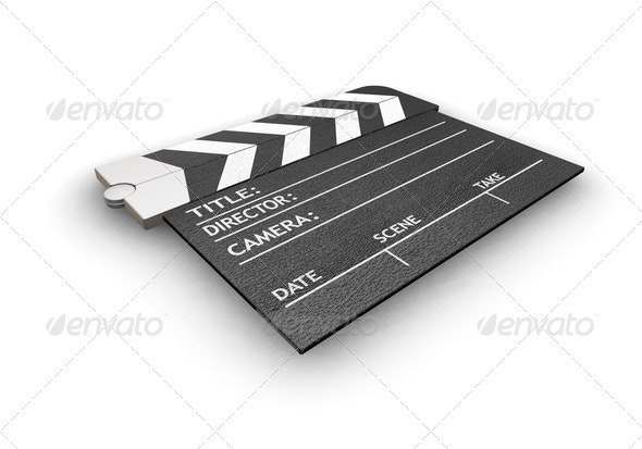 Clapper board - Objects 3D Renders