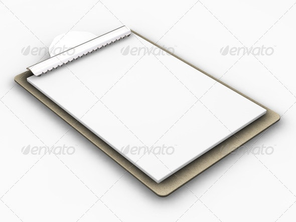 Blank clipboard - Objects 3D Renders