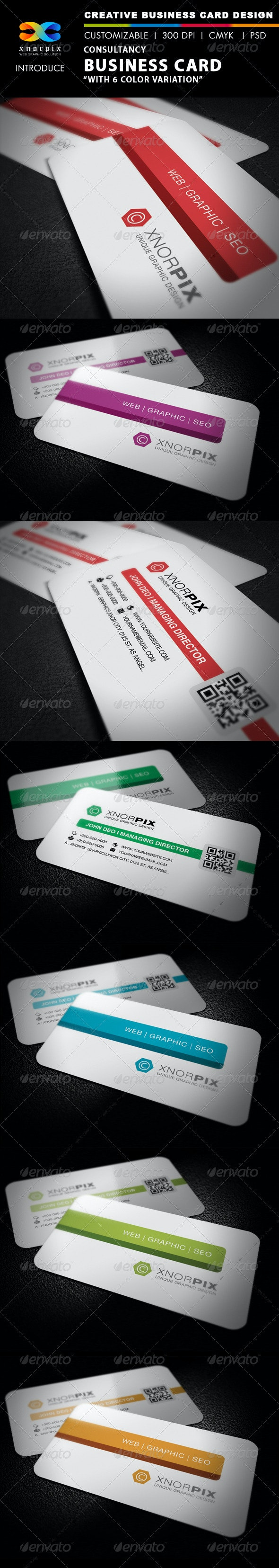 Consultancy Business Card - Corporate Business Cards