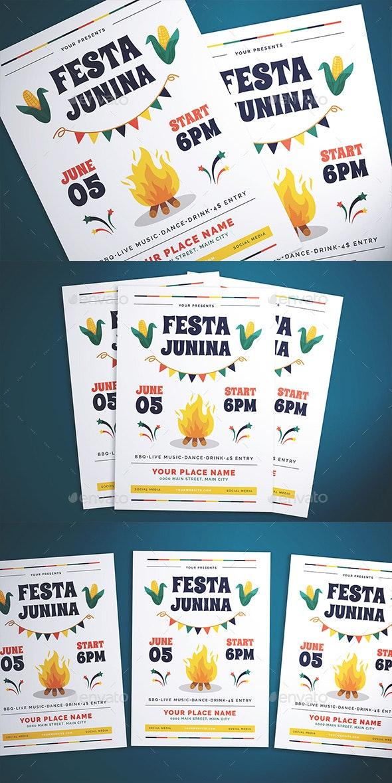 Festa Junina Flyer - Flyers Print Templates