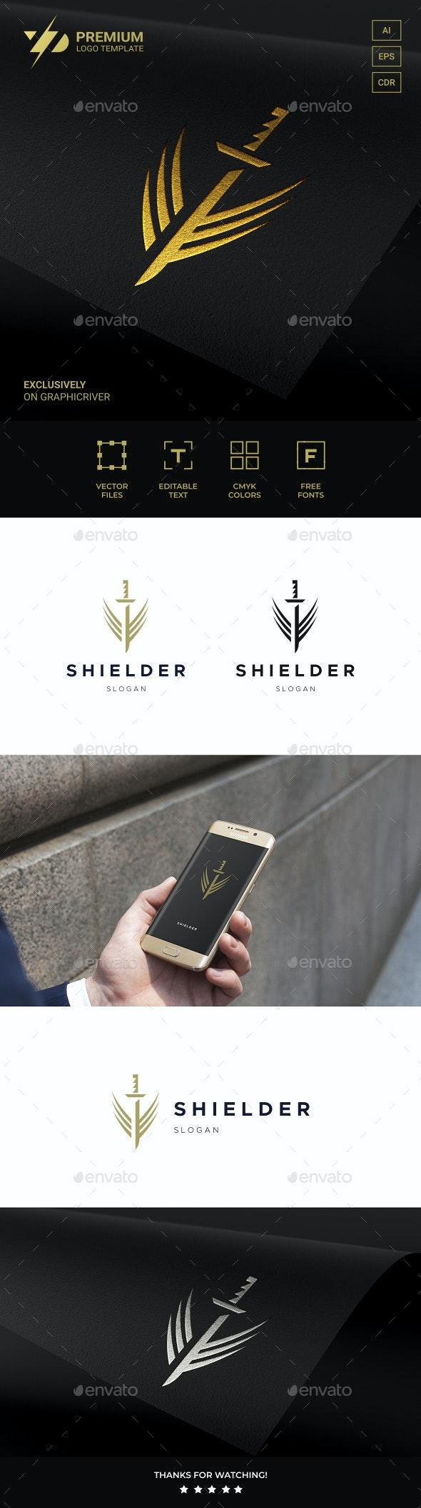 Sword Shield - Symbols Logo Templates