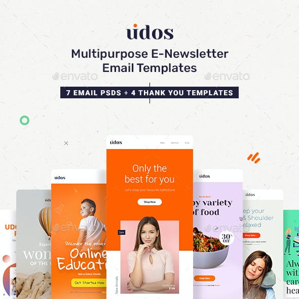 Udos - Multipurpose E-Newsletter Email Templates