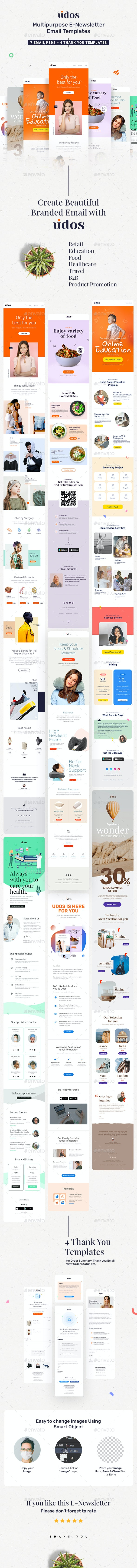 Udos - Multipurpose E-Newsletter Email Templates - E-newsletters Web Elements