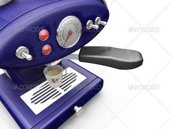 Coffee machine - Objects 3D Renders