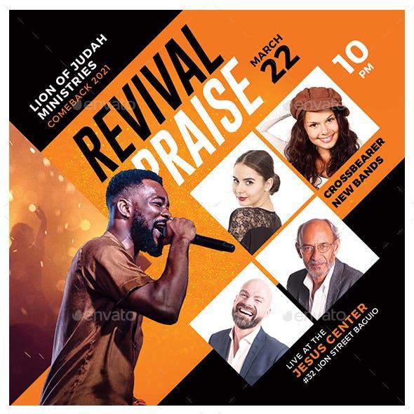 Revival Praise Flyer