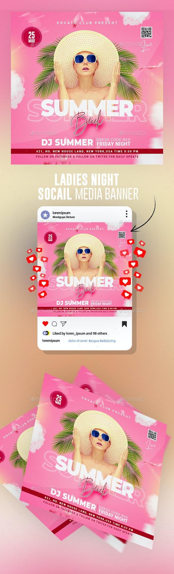 Summer Flyer Banner - Banners & Ads Web Elements