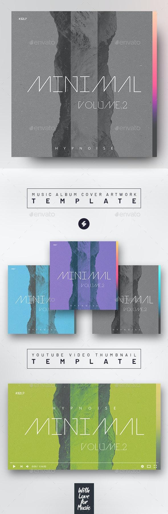 Minimal 2 – Music Album Cover Artwork / Video Thumbnail Template - Miscellaneous Social Media