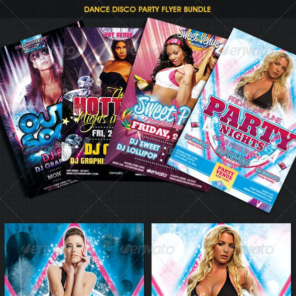Dance Disco Party Flyer Bundle