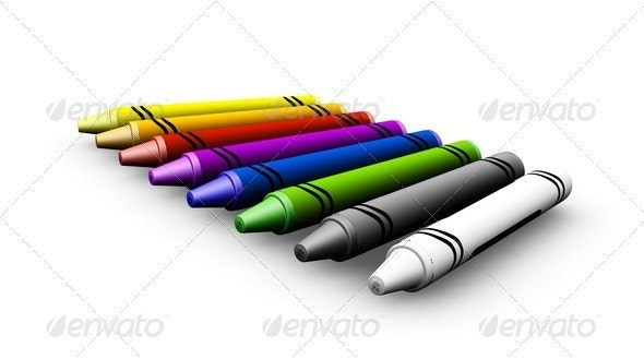 Crayons - Objects 3D Renders