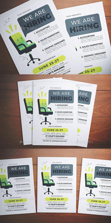 Hiring Flyer - Flyers Print Templates
