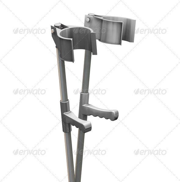 Crutches - Objects 3D Renders