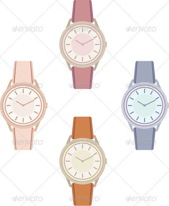 Female wristwatch - Objects Vectors