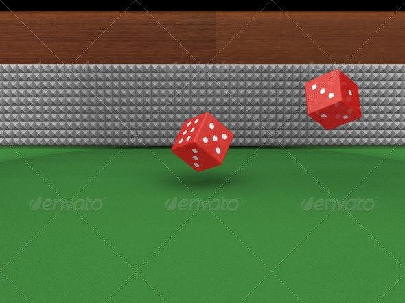 Rolling dice - Objects 3D Renders