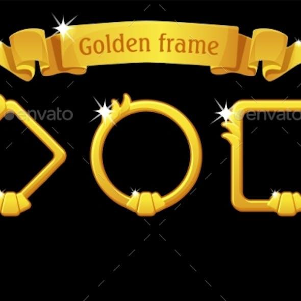 Gold Frame Templates Award Ribbon Different