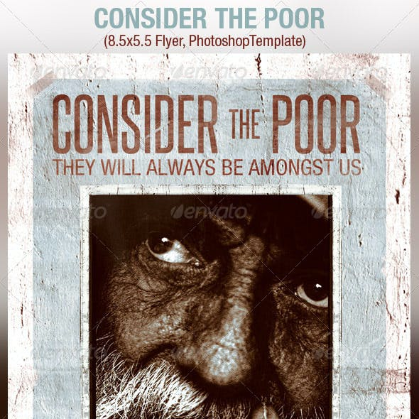 Consider Poor Charity Flyer Template