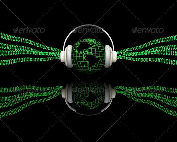 Digital music - Technology 3D Renders