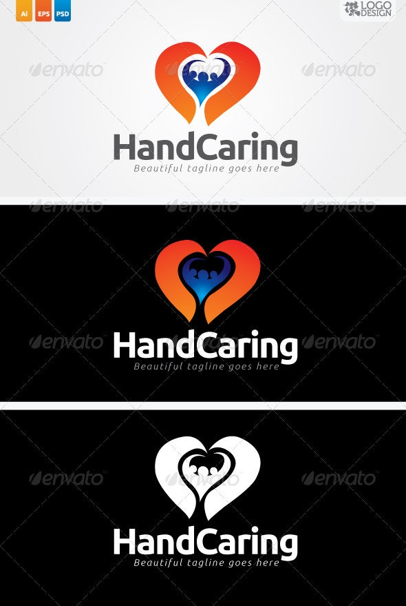 Hand Caring - Humans Logo Templates