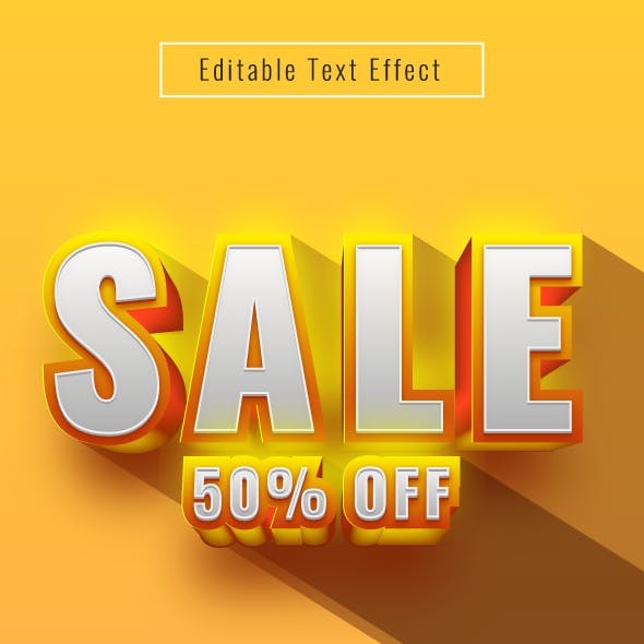 """This is Editable """"3D Text Effect"""" for Illustrator"""