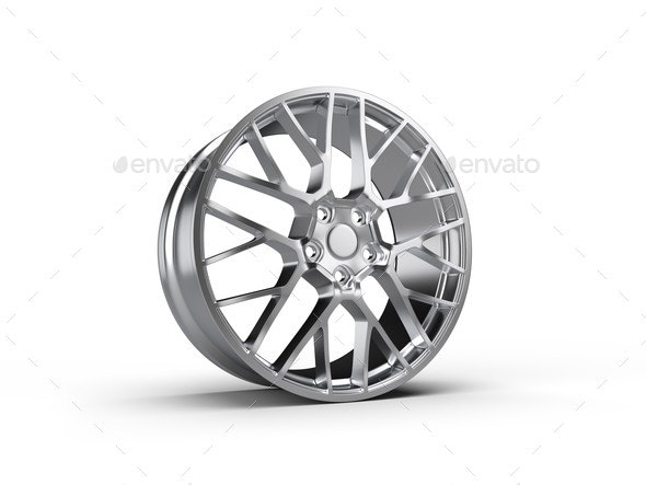 Forged Car Rim Isolated on White Background - Miscellaneous 3D Renders