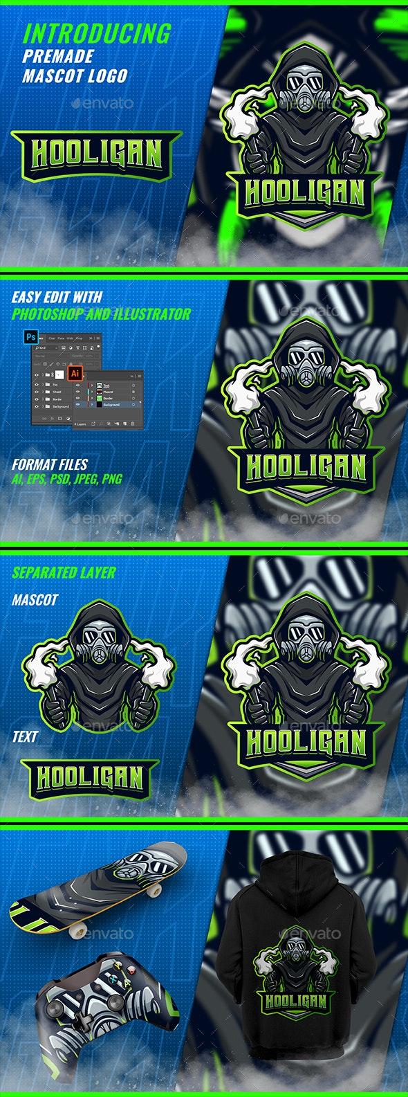 Hooligan Reapers Flare - Mascot Esport Logo Template - Humans Logo Templates