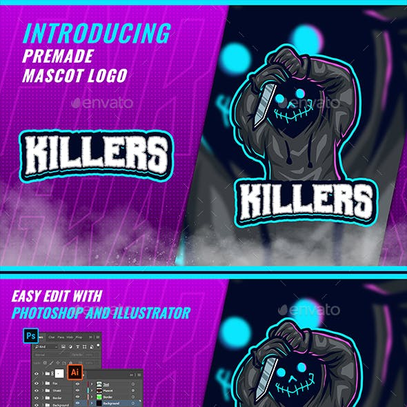 Creepy Killers - Mascot Esport Logo Template