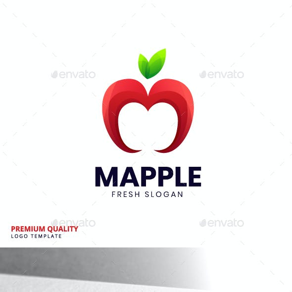 Apple M Logo Template
