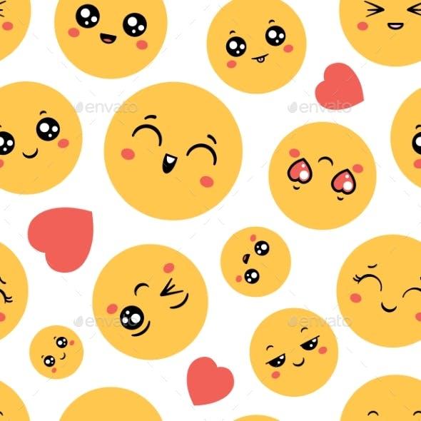 Emoticons Seamless Pattern