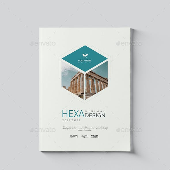Minimal Hexagon Brochure 16 Pages