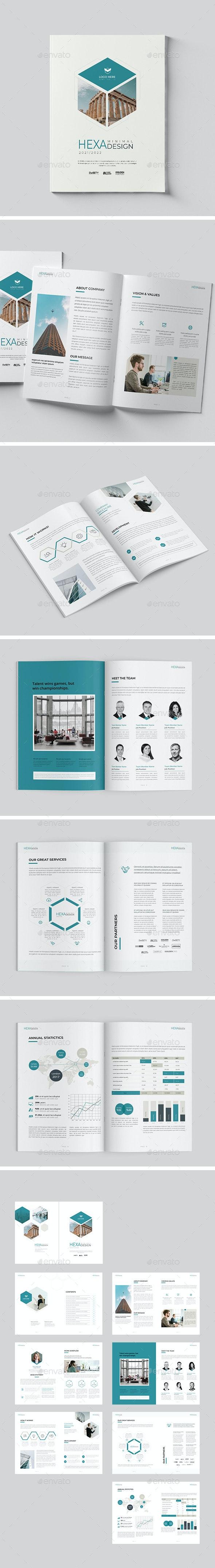 Minimal Hexagon Brochure 16 Pages - Corporate Brochures