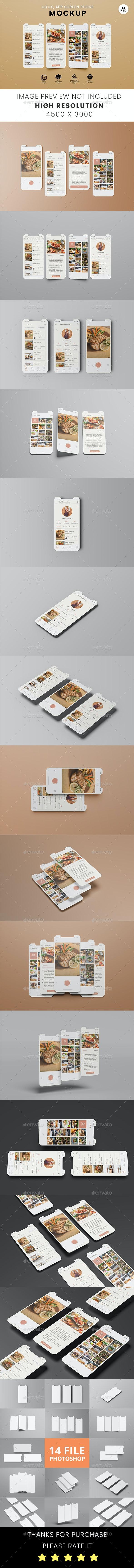 Phone Screen / UX / App Screen Mockup - Mobile Displays