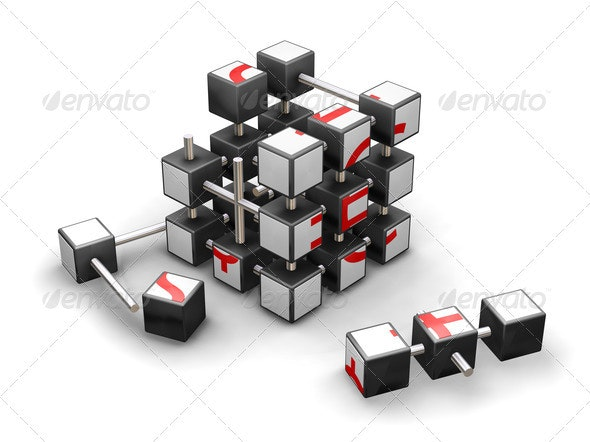 Economic puzzle - Abstract 3D Renders