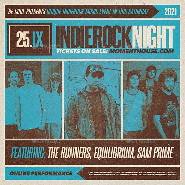 Indierock Flyer/Poster