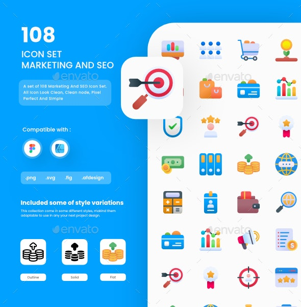 Marketing And SEO - Web Icons