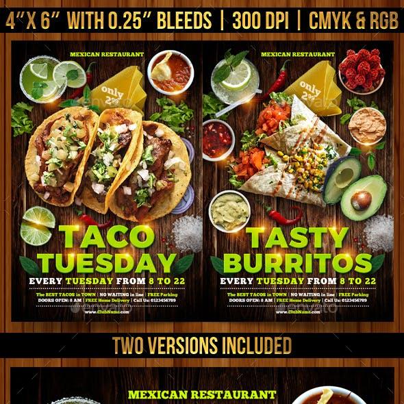 Taco and Burrito Flyer Template