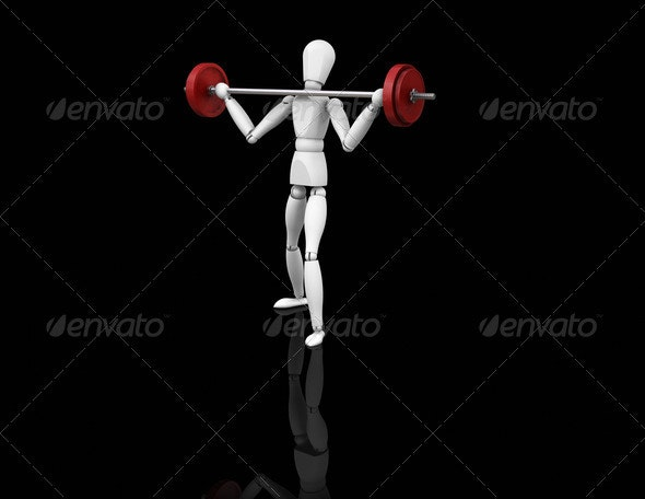 Weightlifter - Characters 3D Renders