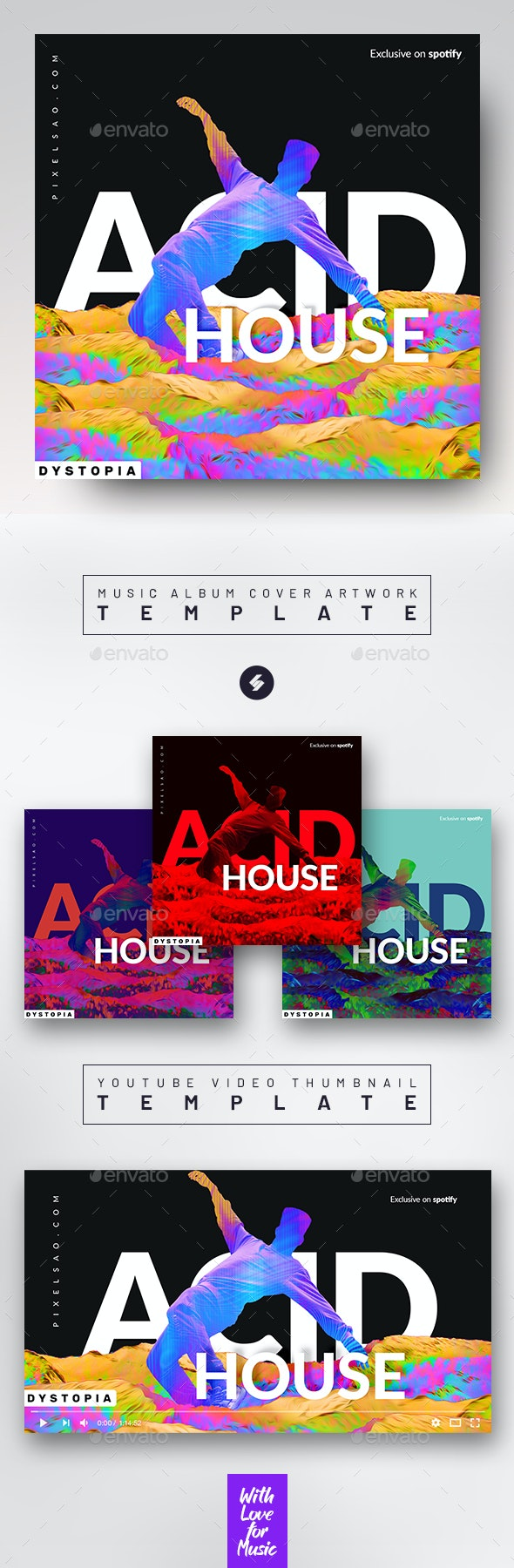 Acid House vol.2 – Music Podcast Cover Artwork Template - Miscellaneous Social Media