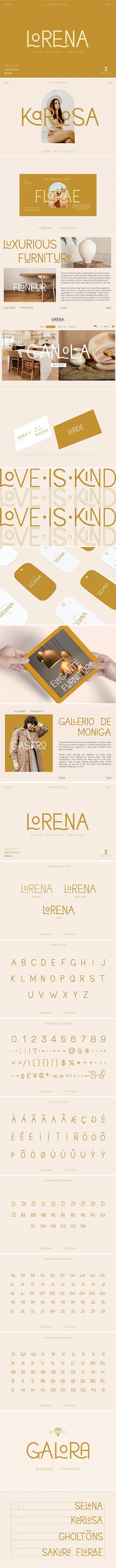 Lorena Typeface - Sans-Serif Fonts